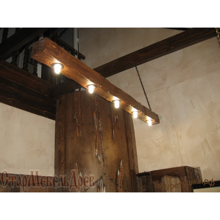 Светильник из дерева под старину своими руками