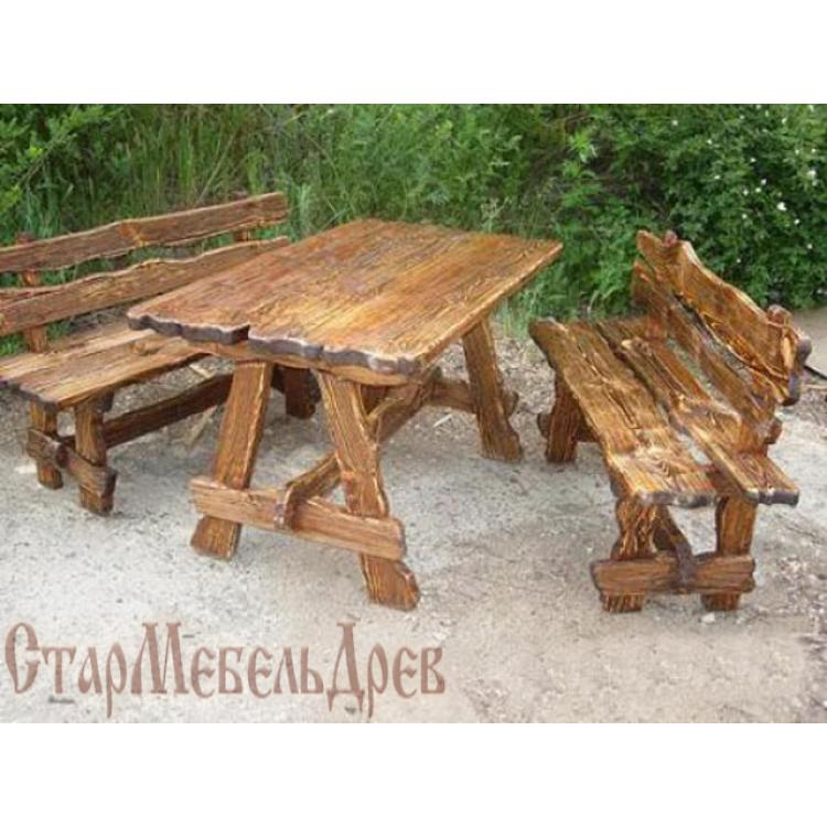 стол под старину амос